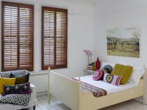 Window Shutters in Bedroom
